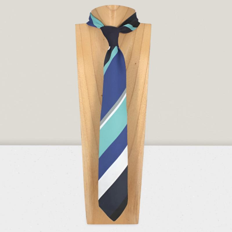 Corbata tapiz damasco negro y blanco front